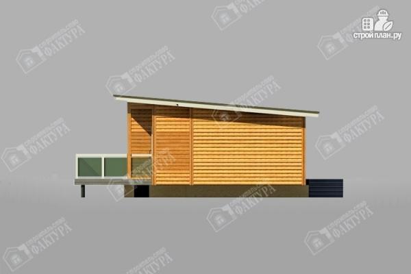 Фото 4: проект дом 7х18 из бруса с больщой террасой