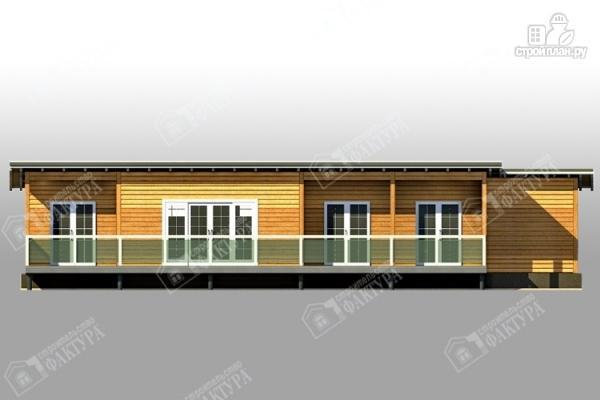 Фото 5: проект дом 7х18 из бруса с больщой террасой