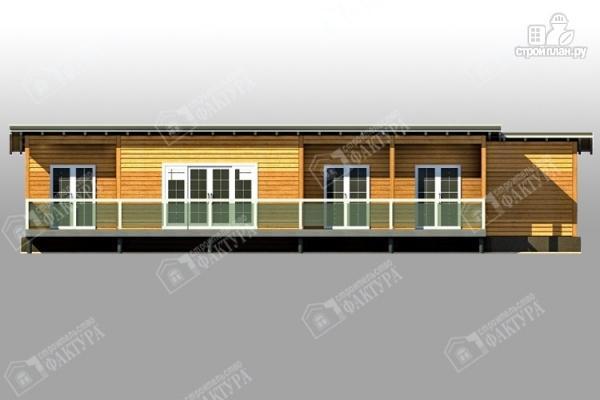 Фото 3: проект дом 7х18 из бруса с больщой террасой