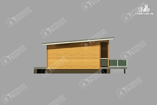 Фото 6: проект дом 7х18 из бруса с больщой террасой