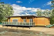 Проект дом 7х18 из бруса с больщой террасой