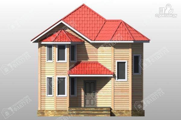 Фото 4: проект дом из бруса с эркером
