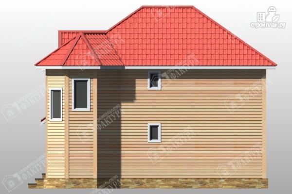 Фото 5: проект дом из бруса с эркером