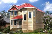 Проект дом из бруса с эркером