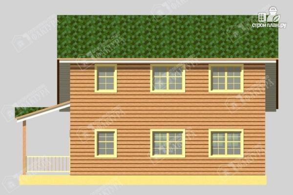 Фото 6: проект дом 8х9 из бруса со вторым светом