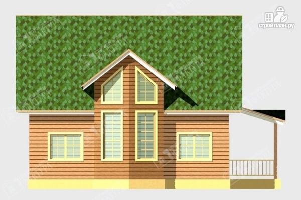 Фото 4: проект дом 8х9 из бруса со вторым светом