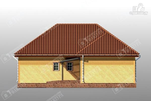 Фото 4: проект дом 13х14 из бруса с гаражом
