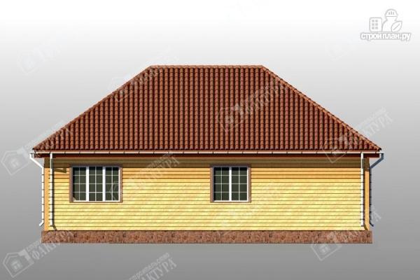 Фото 6: проект дом 13х14 из бруса с гаражом