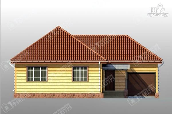 Фото 3: проект дом 13х14 из бруса с гаражом