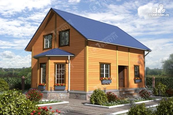 Фото: проект брусовой дом эркером и балконом