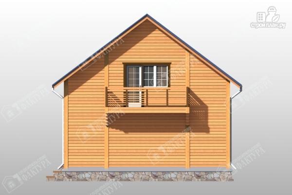 Фото 6: проект брусовой дом эркером и балконом