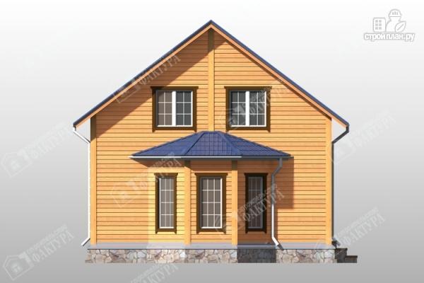 Фото 4: проект брусовой дом эркером и балконом