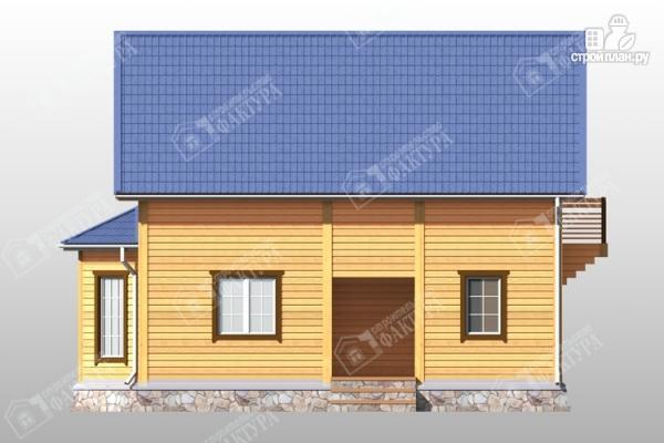 Фото 5: проект брусовой дом эркером и балконом