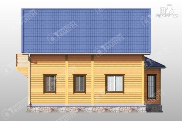 Фото 7: проект брусовой дом эркером и балконом