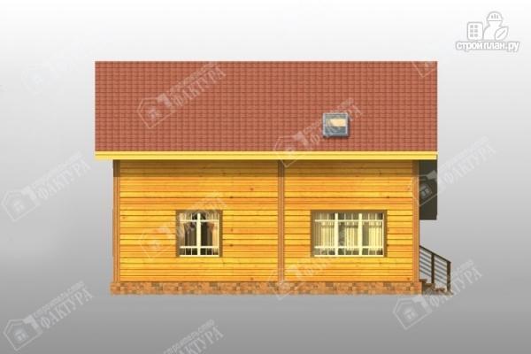 Фото 7: проект дом из бруса с балконом и гаражом
