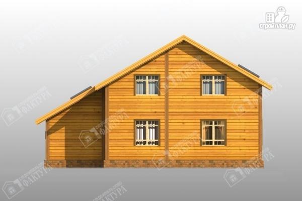 Фото 6: проект дом из бруса с балконом и гаражом
