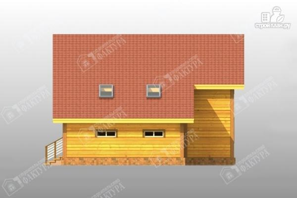 Фото 5: проект дом из бруса с балконом и гаражом