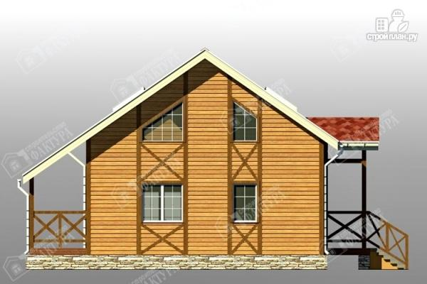 Фото 6: проект двухэтажный брусовой дом с террасой