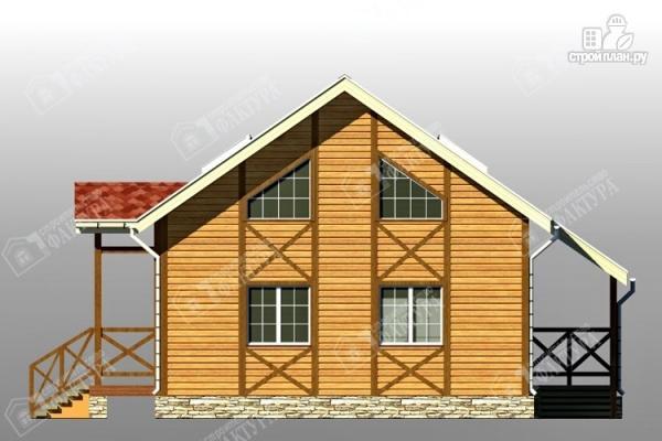 Фото 4: проект двухэтажный брусовой дом с террасой