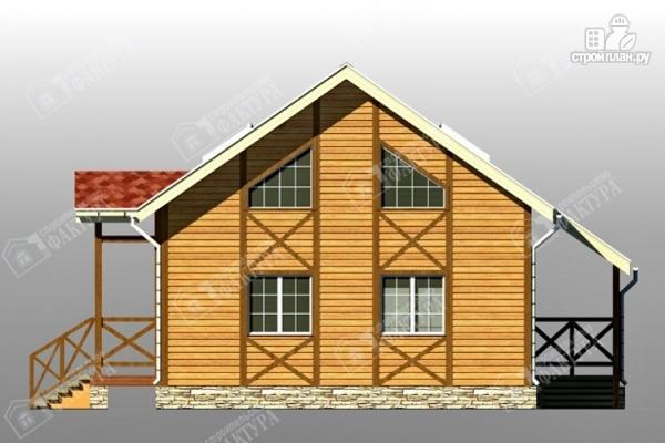 Фото 7: проект двухэтажный брусовой дом с террасой
