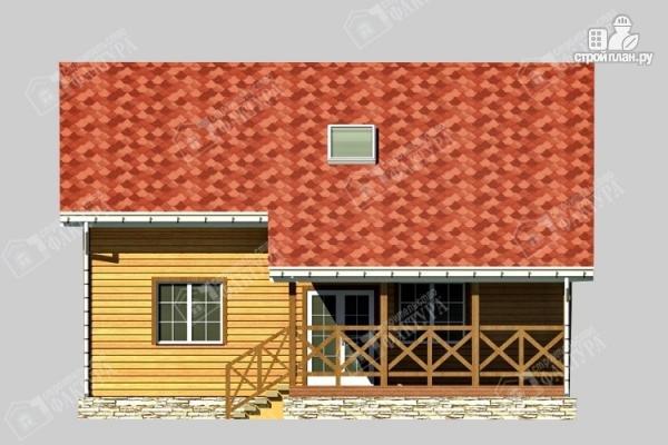 Фото 5: проект двухэтажный брусовой дом с террасой