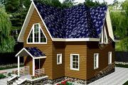 Фото: дом из пиленного бруса с мансардой