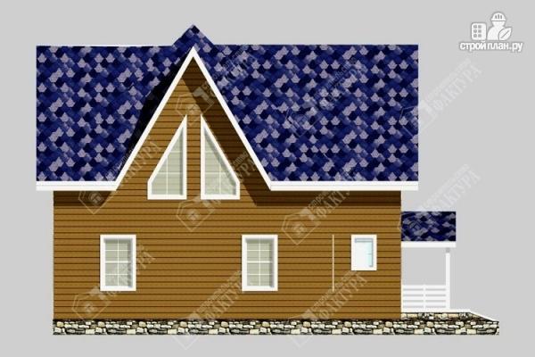 Фото 7: проект дом из пиленного бруса с мансардой