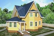 Проект брусовой дом с эркером