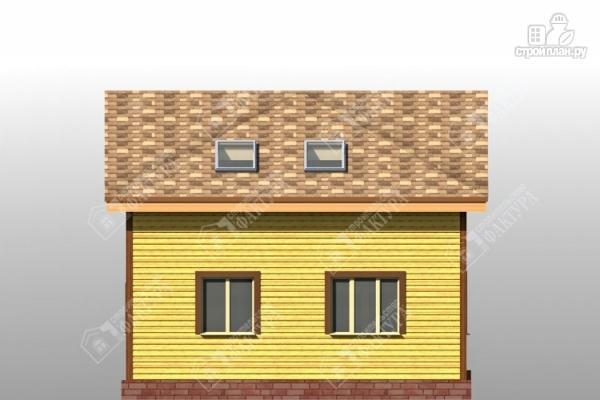Фото 7: проект дом 8х12 из бруса с угловым крыльцом