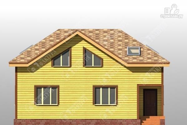 Фото 4: проект дом 8х12 из бруса с угловым крыльцом