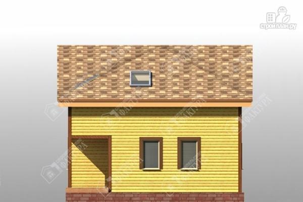 Фото 5: проект дом 8х12 из бруса с угловым крыльцом