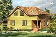 Фото: дом 8х12 из бруса с угловым крыльцом