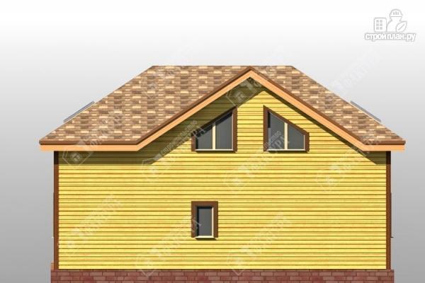 Фото 6: проект дом 8х12 из бруса с угловым крыльцом
