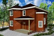 Фото: двухэтажный дом из бруса