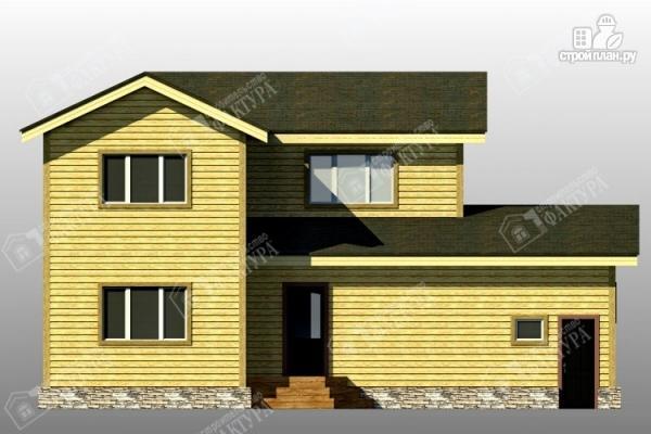 Фото 6: проект брусовой дом с гаражом