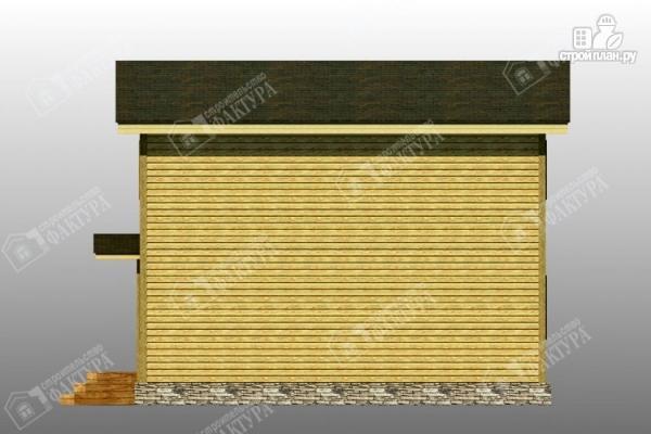 Фото 5: проект брусовой дом с гаражом