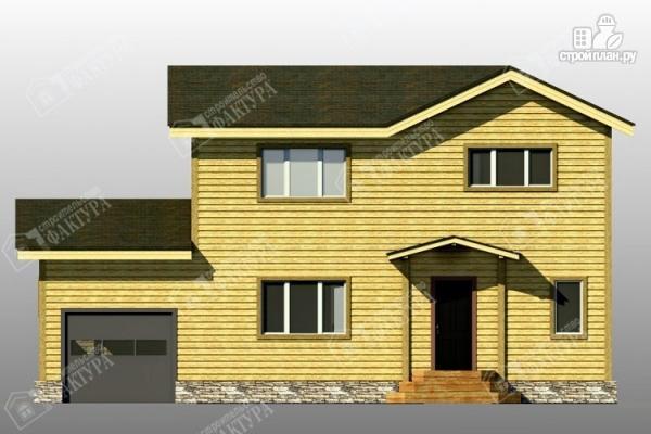 Фото 4: проект брусовой дом с гаражом