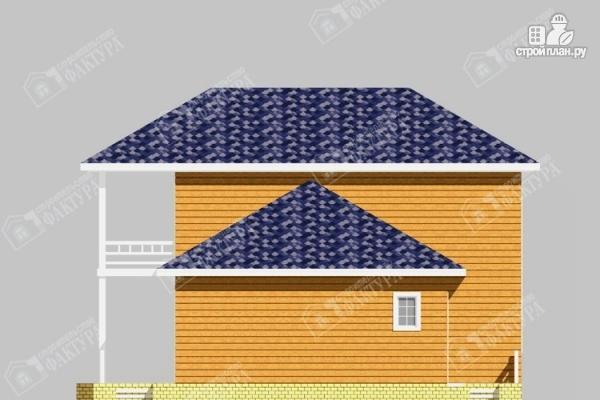 Фото 5: проект дом из бруса с широким балконом