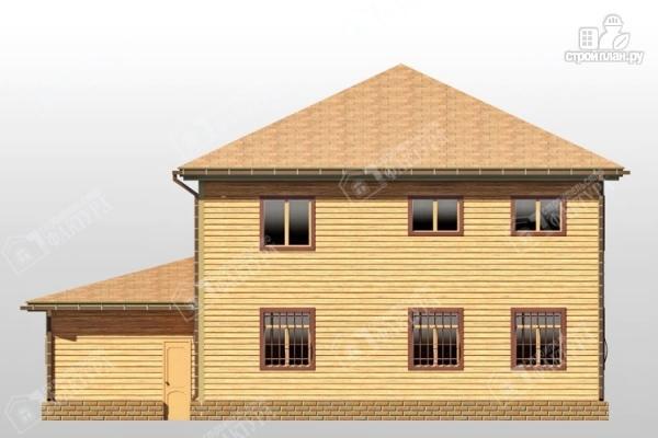 Фото 6: проект большой дом из бруса с гаражом