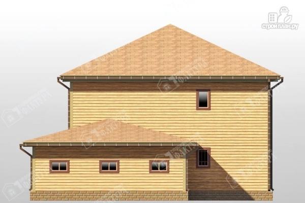 Фото 5: проект большой дом из бруса с гаражом