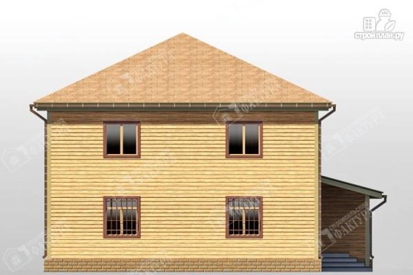 Фото 7: проект большой дом из бруса с гаражом