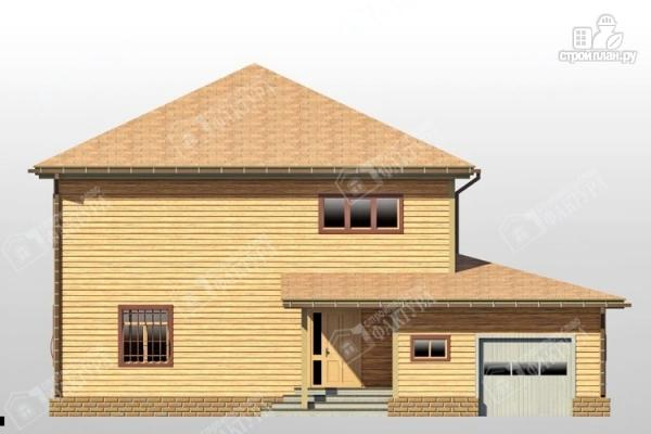 Фото 4: проект большой дом из бруса с гаражом