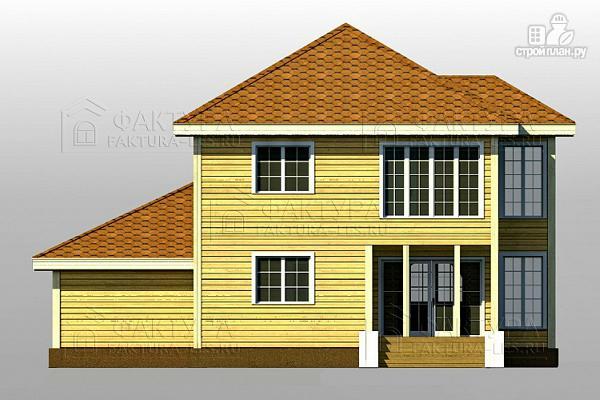 Фото 7: проект двухэтажный дом из бруса с гаражом