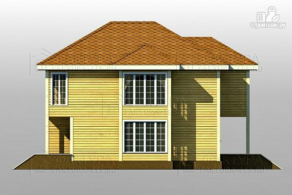 Фото 6: проект двухэтажный дом из бруса с гаражом