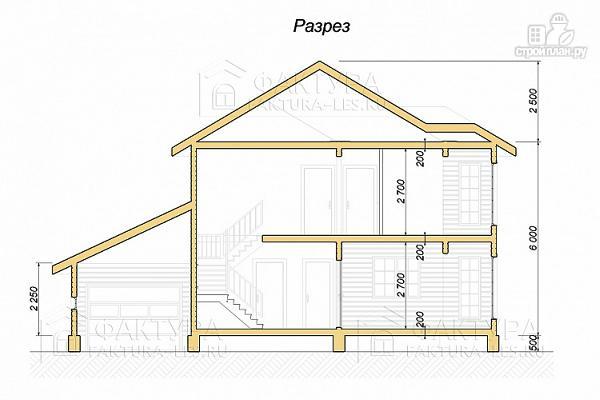 Фото 4: проект двухэтажный дом из бруса с гаражом