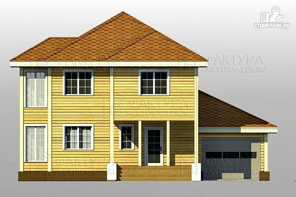 Фото 5: проект двухэтажный дом из бруса с гаражом