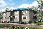 Проект двухэтажный многоквартирный дом из бруса