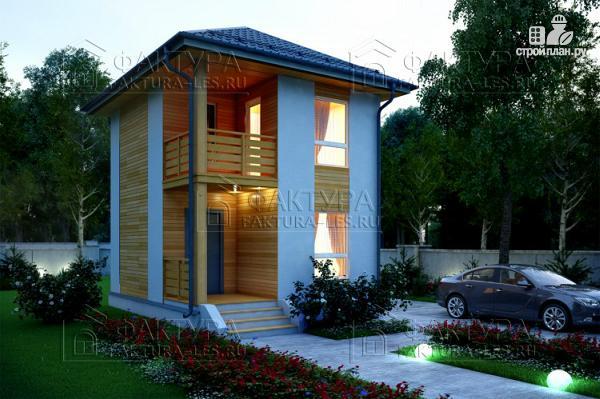 Фото: проект каркасный дом 6х5