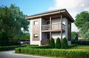 Проект двухэтажный каркасный дом