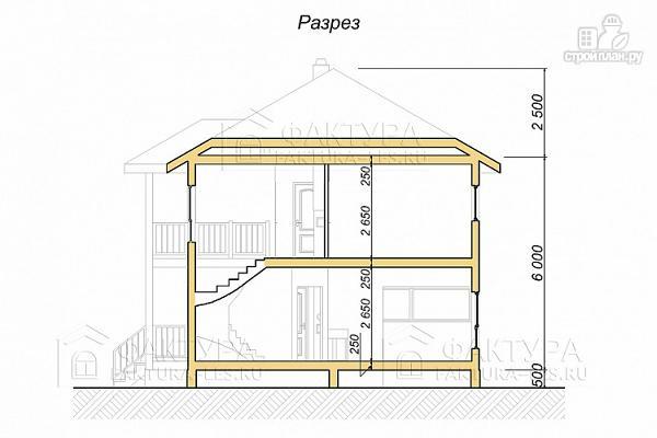 Фото 4: проект каркасный дом с балконом и крыльцом